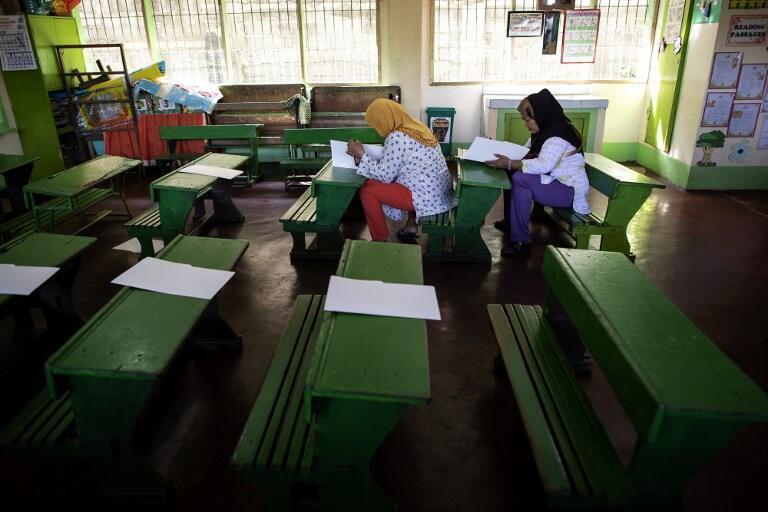 Nhiều phụ nữ đi bỏ phiếu tại Cotabato, đảo Mindanao, miền nam Philippines, ngày 21/01/2019