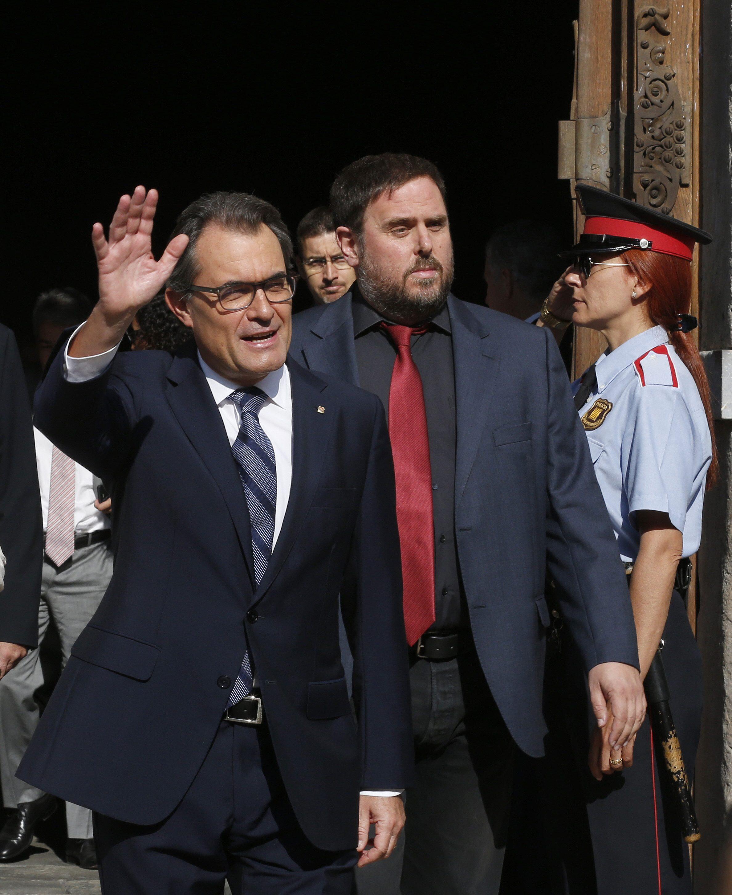 Artur Mas, este sabado 27 de septiembre en Barcelona