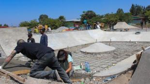 Vue du chantier du skatepark d'Hawassa, en Ethiopie.