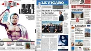 A principal manchete da imprensa francesa desta segunda-feira (3) é o discurso do presidente Emmanuel Macron sobre as diretrizes de seu governo.