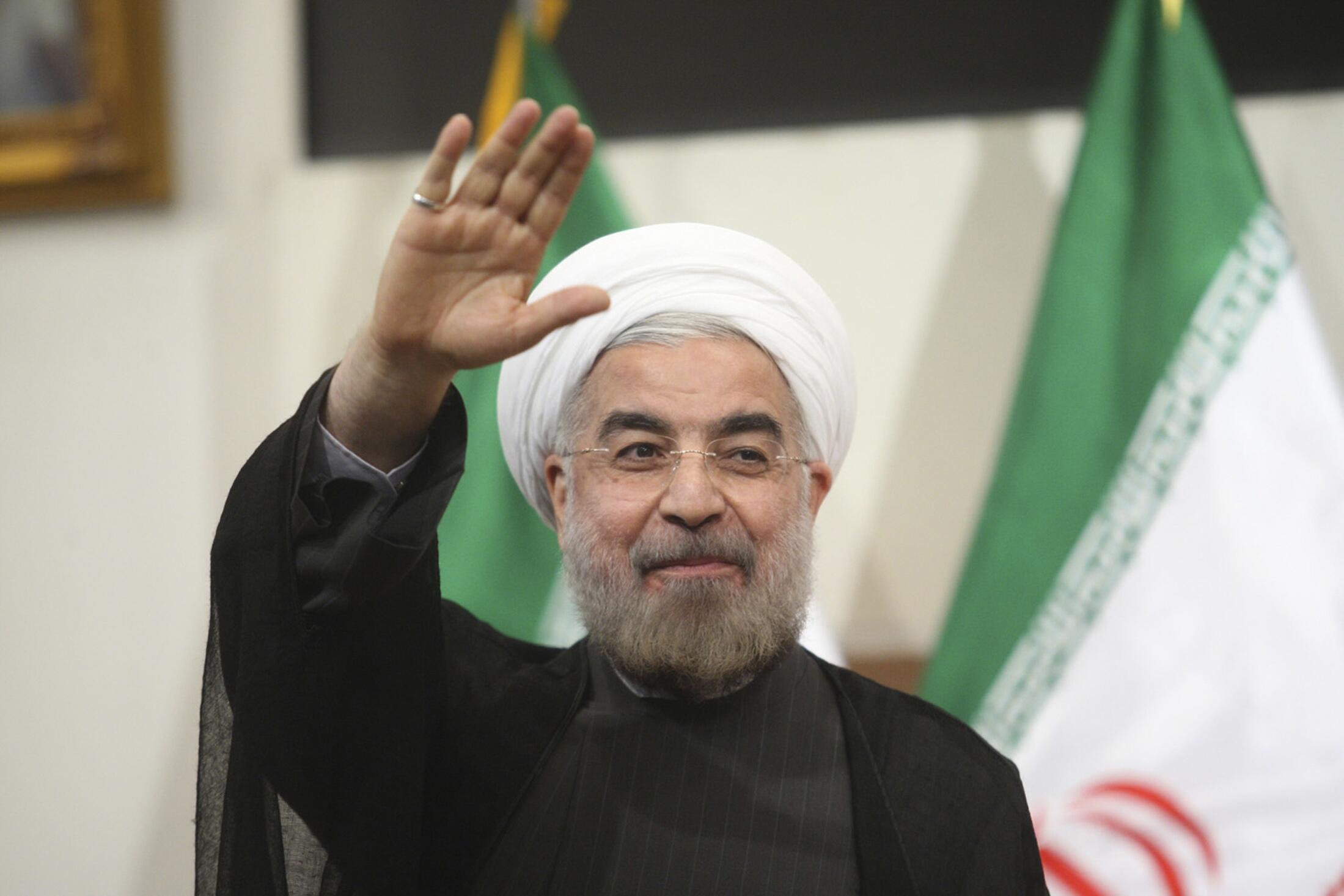 El presidente electo Hassan Rohani.