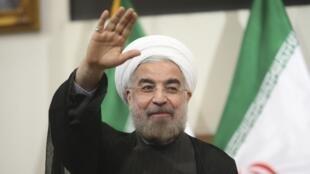 O novo presidente iraniano, Hassan Rowhani.