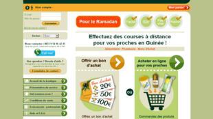 Capture d'écran du site internet de la boutique en ligne Wontanara.