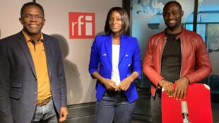 Philippe Simo, fondateur de Investir au pays, Diara Ndiaye et Eric Ntonfo, fondateur de deux plateformes de crowdfunding : Kwendoo et  Fiatope.