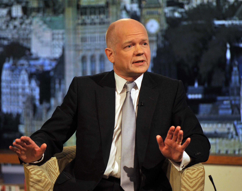 Ngoại trưởng Anh William Hague phát biểu trên đài truyền hình BBC, Luân Đôn, 19/02/2012