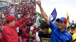 Hugo Chávez y Henrique Capriles Radonski.