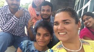 Aula de Isabel Portugal com estudantes indianos e chineses no Curso de Verão do Instituto do Deserto da Universidade Ben Gurion