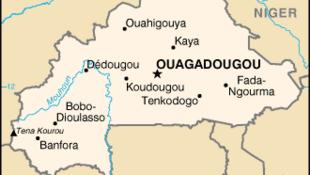 La carte du Burkina Faso.