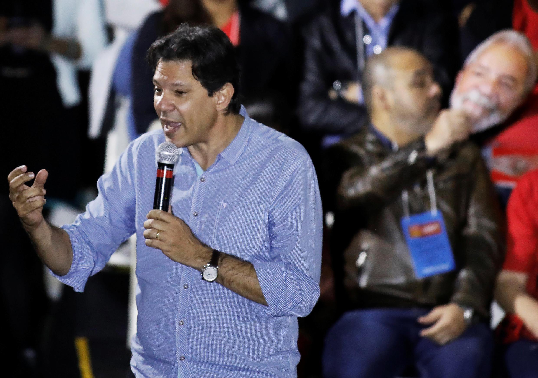 O ex-prefeito de São Paulo, Fernando Haddad, durante a convenção do PT, neste final de semana