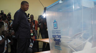 President-elect Joao Lourenco waits to cast his ballot in Luanda on 23 August 2017.