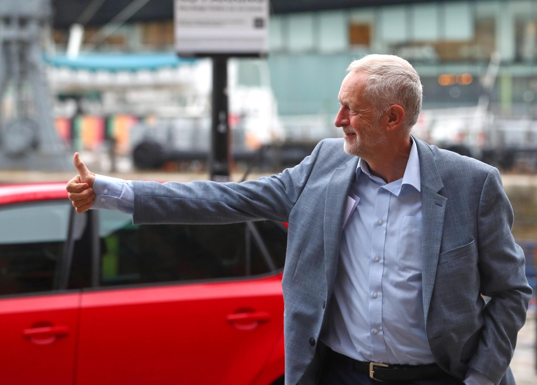 Ông Jeremy Corbyn tới Liverpool, ngày 22/09/2018, dự đại hội Công Đảng Anh