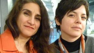 Daniela Prost y Yanieb Fabre en los estudios de RFI
