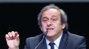 O presidente da UEFA, Michel Platini, nesta quinta-feira, 28 de maio de 2015, em Zurique.