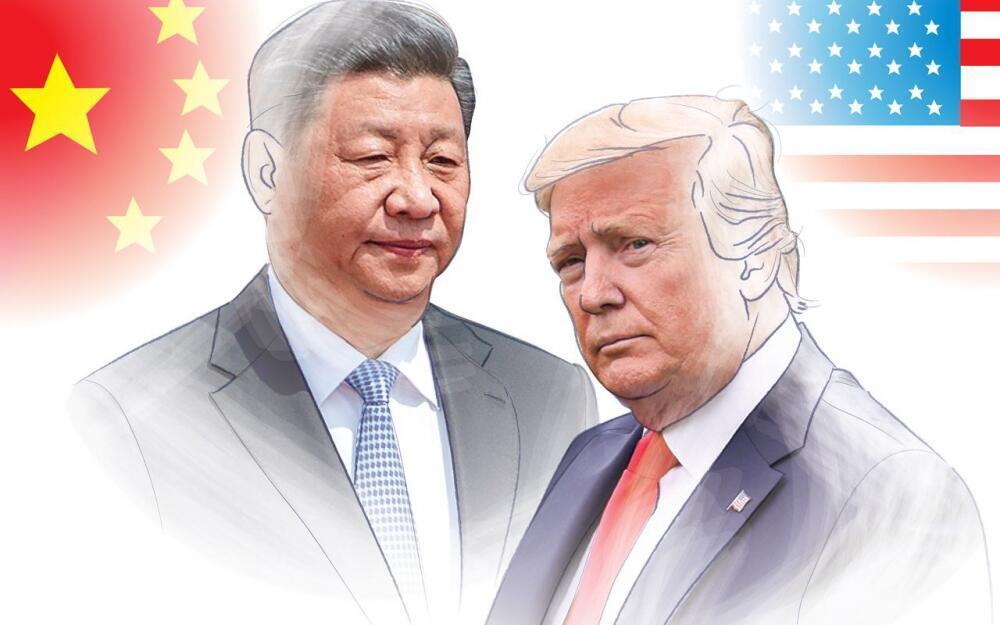 美國總統特朗普與中國國家主席習近平 合成照片