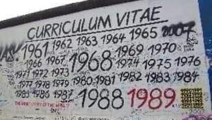 柏林墙局部涂鸦