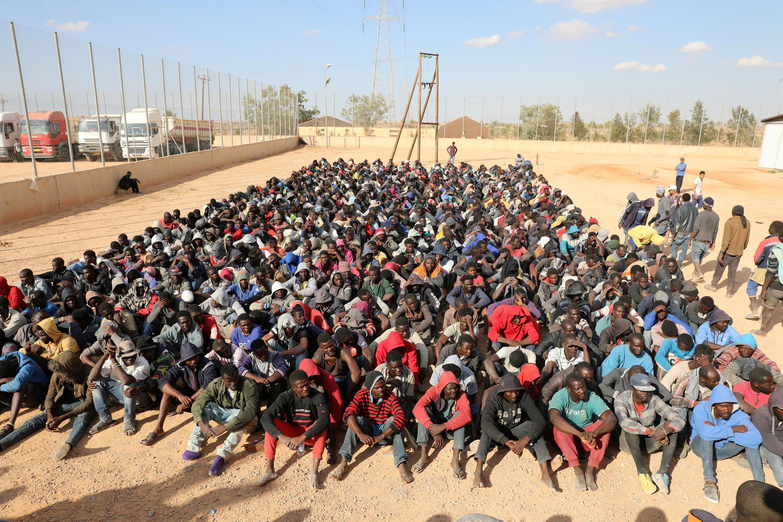 Di dân châu Phi bị giữ trong trại Gharyan, Libya 12/10/2017.