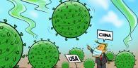 关于新冠病毒源头争议漫画图片