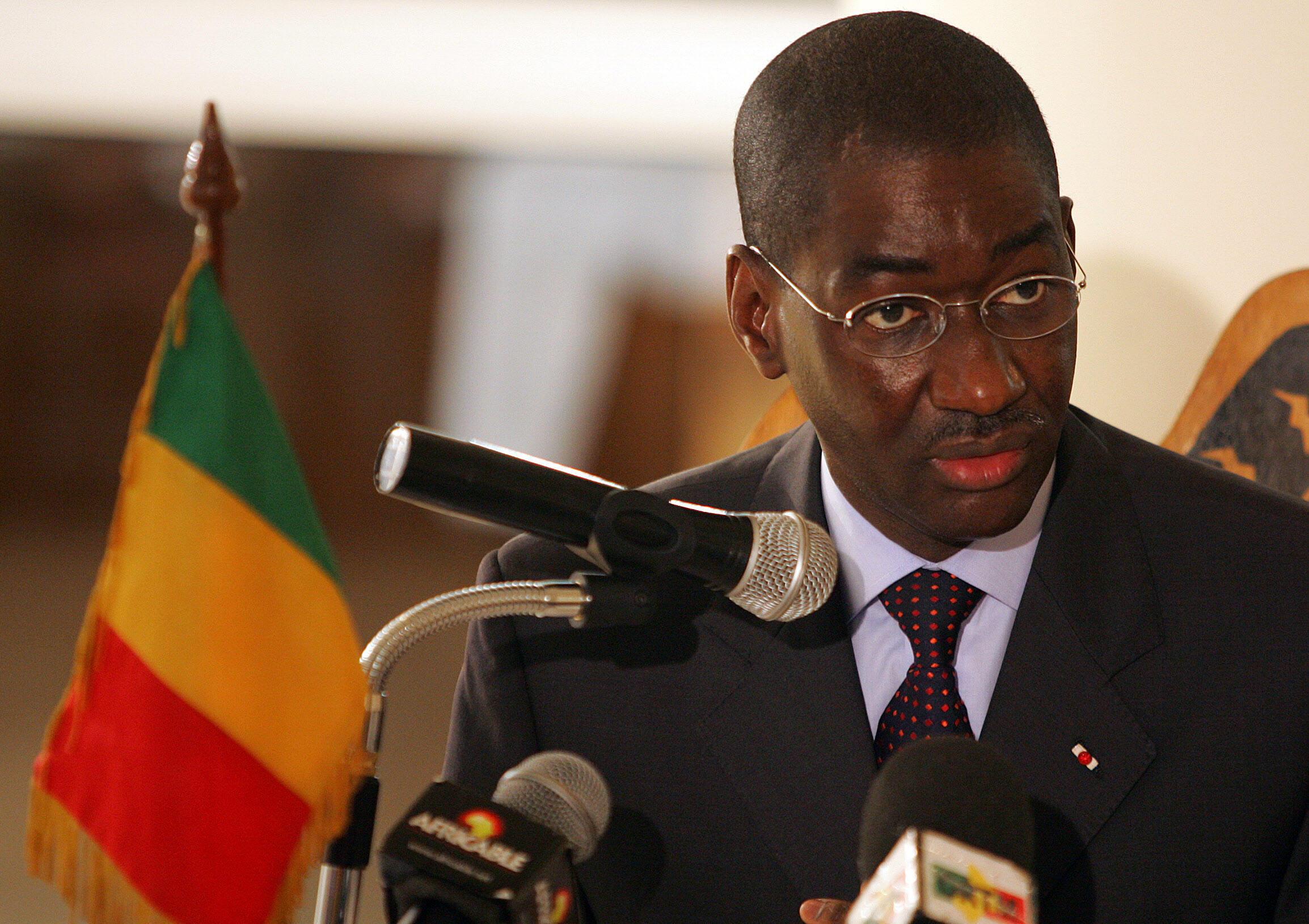 Moctar Ouane a déjà été ministre des Affaire étrangères du Mali. Ici en mars 2008 à Bamako.
