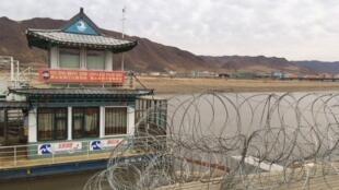 Le fleuve Tumen marque la frontière entre la Chine et la Corée du Nord.
