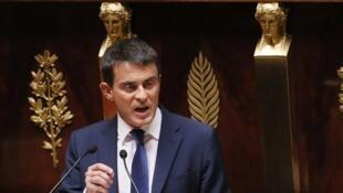 Le Premier ministre Manuel Valls appelle «à la vigilance, à l'unité et au rassemblement ». Photo: le Premier ministre à l'Assemblé nationale en septembre.