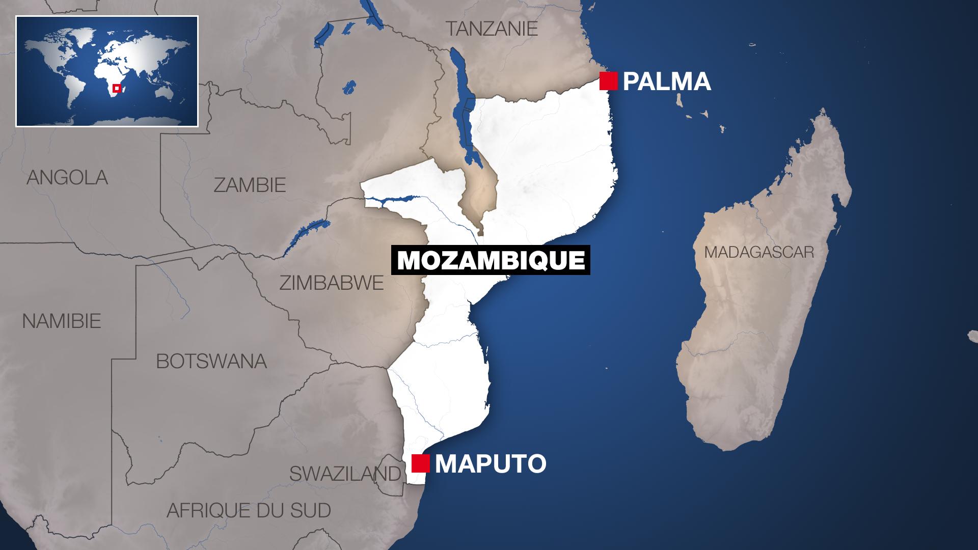 Mozambique - Palma - Carte