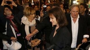 "Gerard Depardieu and Jacqueline Bisset arrive for the screening of the film ""Welcome to New York"",  Cannes  17 May 2014."
