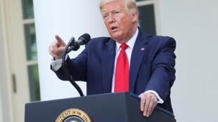 Tổng thống Mỹ Donald Trump trong cuộc họp báo tại Nhà Trắng, Washington, Hoa Kỳ ngày 26/05/2020.