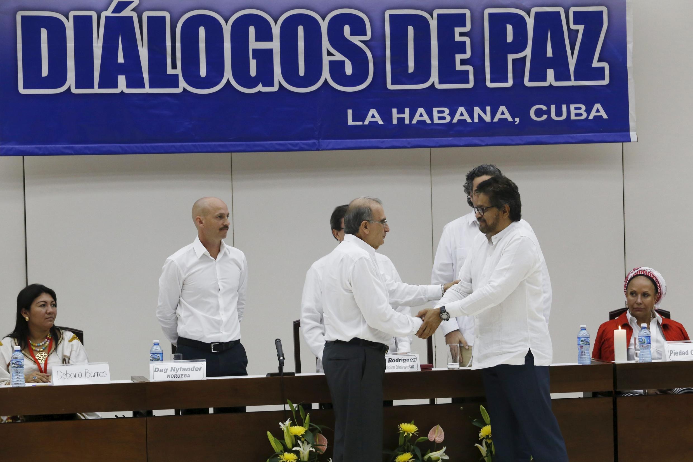 Rencontre à La Havane pour le dialogue de paix entre le gouvernement colombien et les Farc, le 15 décembre 2015.