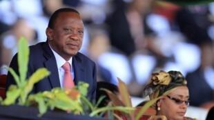 Rais wa Kenya Uhuru Kenyatta.
