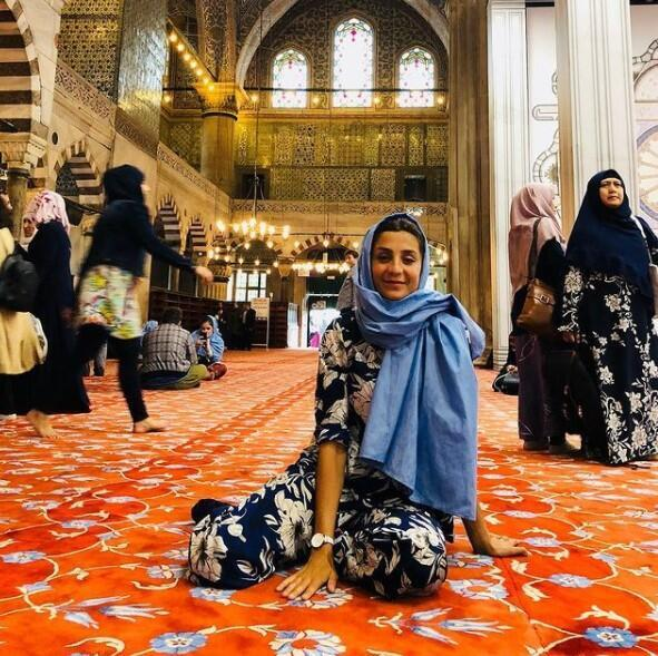 """At the Blue Mosque June 2018. """"Religion has kept me grounded."""""""