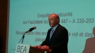 Coletiva do BEA (Birô de Investigações e Análises), escritório francês que investiga a segurança na aviação civil