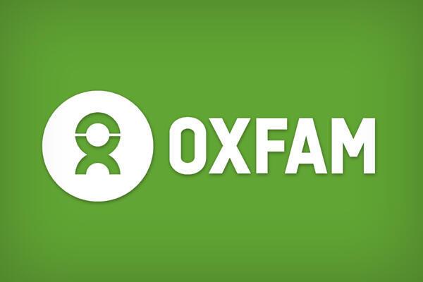 Logomarca da ONG internacional Oxfam, sediada em Londres.