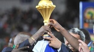 O troféu do Campeonato Africano das Nações.