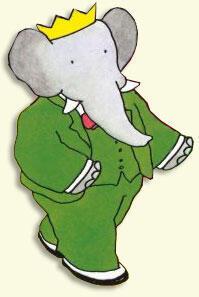 穿着綠色西服的巴巴形象深入人心。洛朗繪製的巴巴和父親的手法相差無幾。