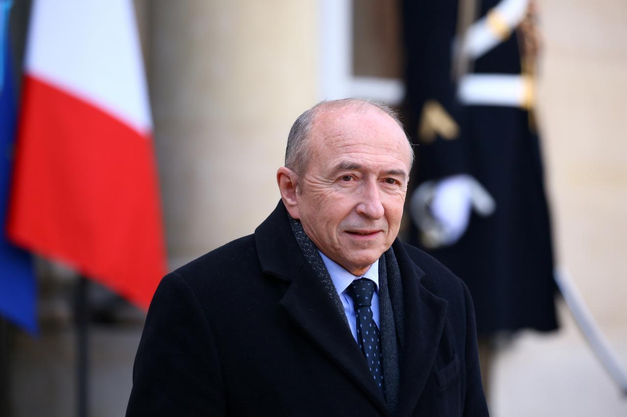 O ministro do Interior francês, Gérard Collomb. 2018