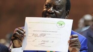 Prime minister Raila Odinga runs for presidency