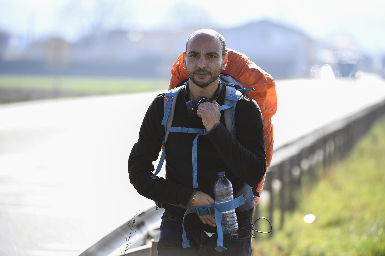 Abdelghani Merad em uma estrada da França, em fevereiro de 2017