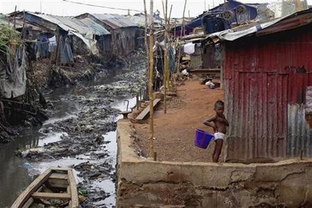 Yankin Mabella da ke Freetown babban birnin kasar Saliyo. 13/3/2008.