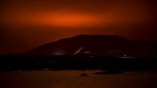 Éruption volcanique près de Reykjavík