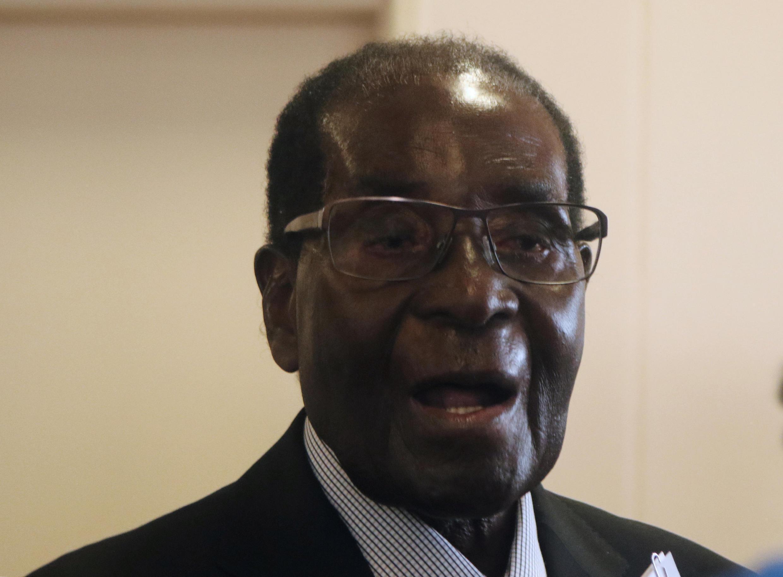 O chefe de Estado do Zimbabué, Robert Mugabe