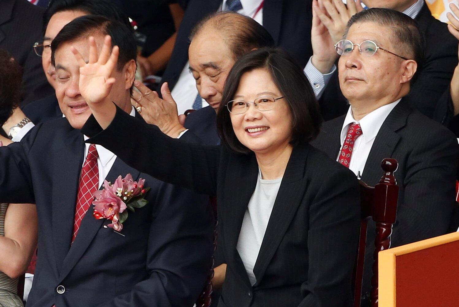 Tsai Ing-wen, photographiée lors de la fête nationale taiwanaise, le 10 octobre 2016 à Taipei.