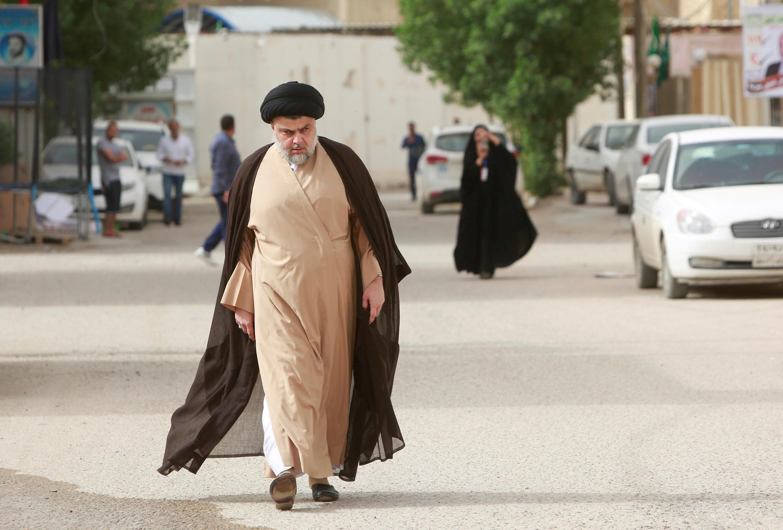 O chefe político religioso Moqtada Sadr