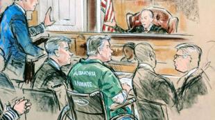 L'ancien responsable de la campagne Trump, Paul Manafort, a comparu devant le tribunal de district américain d'Alexandria, Virginie (États-Unis), le 7 mars 2019.