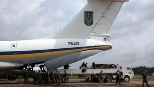 Phi cơ vận tải quân sự loại IL-76 của Ukraina - DR