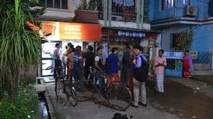 Queue at an ATM in Howrah after demonetisation of Rs 500 and 1000 notes in November