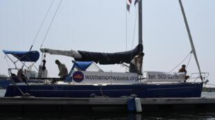 El barco de Women on Waves en el puerto de San José, Guatemala, este 23 de febrero de 2017.