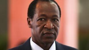 L'ex-président Blaise Compaoré, ici en octobre 2012.