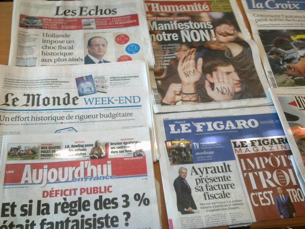 Diários franceses   28/09/2012