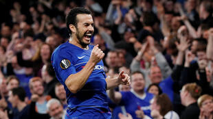 Pedro scored the first and fourth of Chelsea's goals against Slavia Prague.