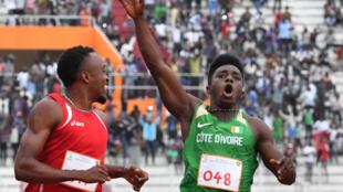 L'Ivoirien Arthur Gue Cissé lors des Jeux de la Francophonie 2017 à Abidjan.